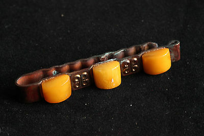 Natural Antique 10gr Butterscotch Egg Yolk Baltic Amber stone Tie Pin #238