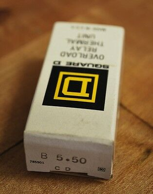 Square D B5.50, Overload Relay Thermal Units - Lot of 3 - NEW