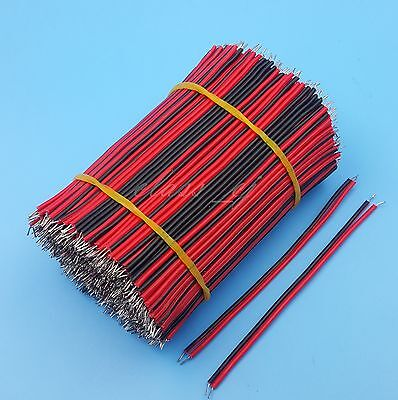 400Pcs Red and Black 8cm 26AWG 1007 Solder Jumper Wire Double End Tinned