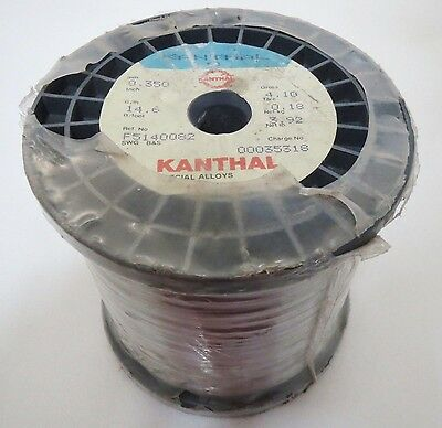 Kanthal A Wire 0.35mm 27 Gauge AWG Resistance Heating 15ohm/m=8.4ohm/ft ~4kg~9lb