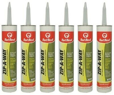 6 Red Devil 0606 Zip-A-Way 10.1 oz Clear Removable Caulk Caulking Weatherstrip