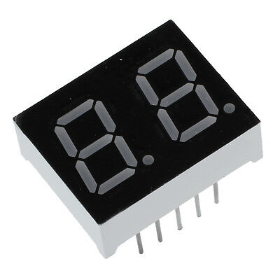 "5cs Common Cathode 10 Pin 2 Bit 7 Segment 0.4"" Red LED Display Digital Tube TS"