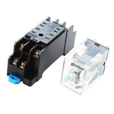 DC 12V Coil 8 Pin General Purpose Relay DPDT HH52P w PYF08A Socket TS