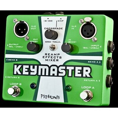 Pigtronix Keymaster Dual Fx Mixer Pedal**new** Free Cable Worldwide Shipping