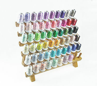 SIMTHREAD 40Wt Rayon Embroidery Thread for Home Machine -58 Colors, 500M Each