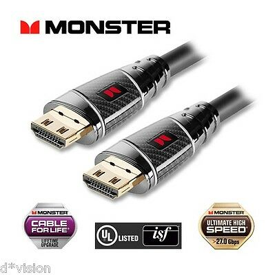 Monster® UltraHD 4K HDMI Cable Premium Black Platinum Ultimate High Speed 27Gbps