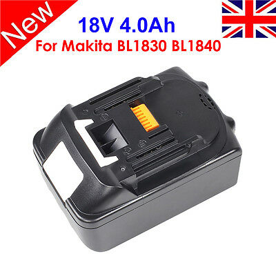 18V 4.0Ah FOR MAKITA  LITHIUM ION BATTERY BL1815 BL1840  BL1830  LATEST PACK UK