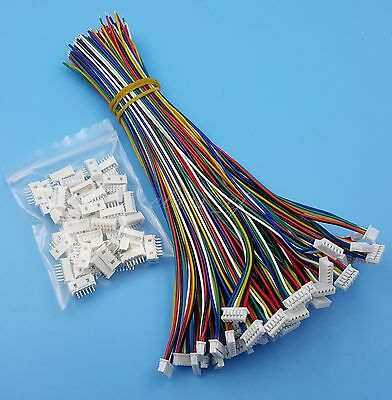 50Sets 6Pin SH 1.25mm Single End 15cm 28AWG Wire To Board Connectors