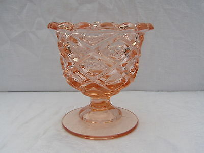 Older Pink Glass Compote Bowl  Quality Piece  Maker ?