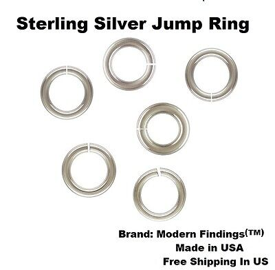 18 Ga Sterling Silver Heavy Jump Ring ( Choose Size & Quantity ) See  Variations