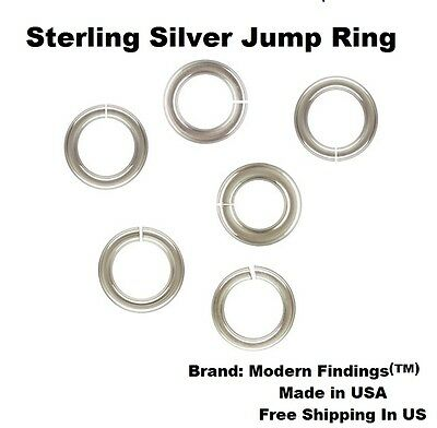 20 Ga Sterling Silver Heavy Jump Ring ( Choose Size & Quantity ) See  Variations