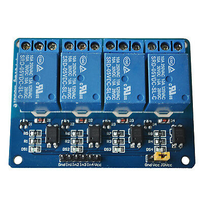 Hot Sale!5V 4-Channel Relay Module Shield For ArduIno Arm PIC AVR DSP TS