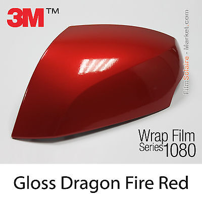 10x20cm FILM Gloss Dragon Fire Red 3M 1080 G363 Vinyle COVERING Series Wrapping
