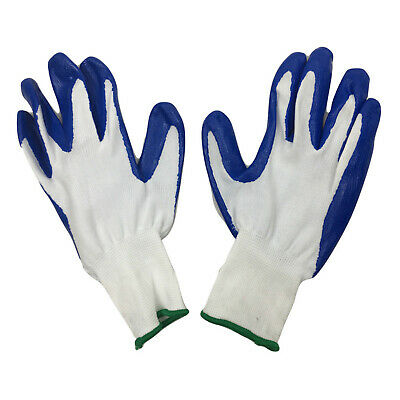 12x NITRILE GLOVES General Purpose Work Glove Safety Rubber Coated BULK New