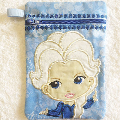 In-The-Hoop ZIP BAG * PRINCESS 1 * Machine Embroidery Patterns * 5x7in hoop