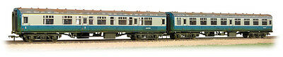 Bachmann 39-001 BR MK1 2 Coach Works Test Train Blue/Grey Tracked Weathered T48P