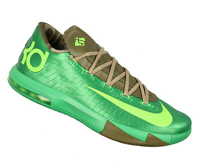 478f4e672fb9 NIKE KD VI Basketball Shoes sz 10.5 Bamboo Edition Gamma Green Flash Lime 6