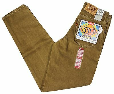 NEW VTG 90s LEVIS 550 Relaxed Fit JEANS Tapered 28 x 32 Tan Deadstock NWT NOS !