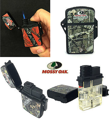 4 Pack Mossy Oak Water Resistant Eagle Torch Flame Lighter Camoflauge Refillable