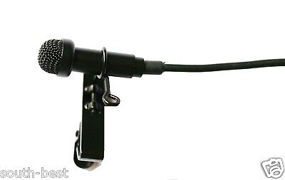 Black Lavalier Lapel Microphone For Sennheiser EW G1 G2 G3 + Metal Cap Hat