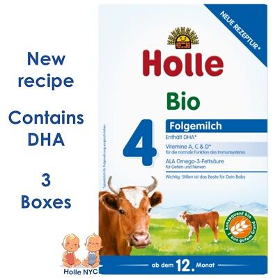 *FREE PRIORITY MAIL* Holle stage 4 Organic Formula 04/2018, 600g, 3 BOXES