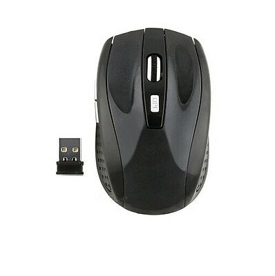 2.4GHz Wireless Cordless Optical Mouse Mice + USB Receiver for PC Laptop DRUK