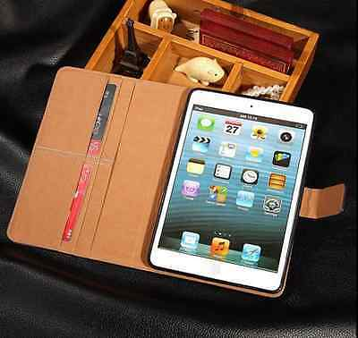 Premium Leather Wallet Flip Stand Case Cover for Apple iPad Air 2 3 4 Mini