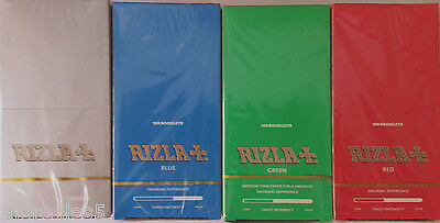 Rizla Standard Size Cigarette Rolling Paper 100 Booklets Box - SELECT THE TYPE