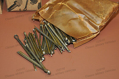 WWII Willys MB Ford GPW Cotter Pin Kit. NOS Spare Parts Army Military Jeep G503.