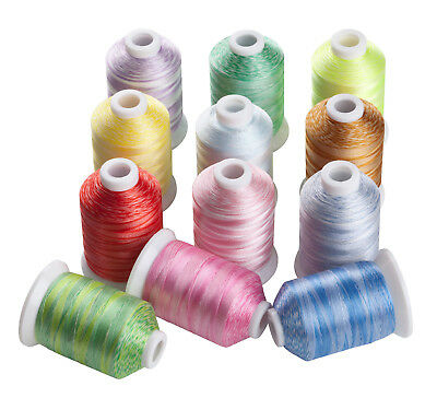 SIMTHREAD 40Wt Polyester Multicolors Embroidery Machine Spools Thread, 1000M/pc