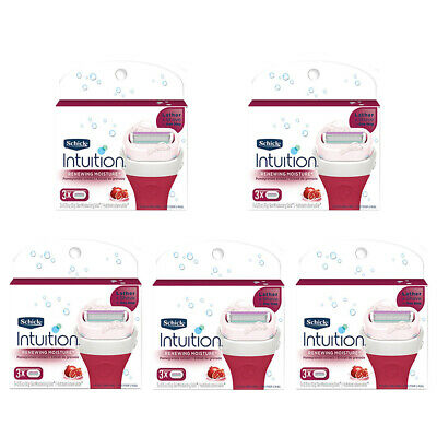Schick Intuition Renewing Moisture Womens Razor Blade Refills, 15 Cartridges