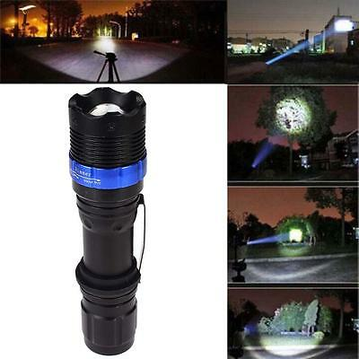 3000lm CREE Q5 LED Flashlight 18650 AAA Zoom Torche lampe de camping Noir EH