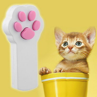 New Funny Pet Cat Dog Interactive Automatic Red Laser Pointer Exercise Toy I5