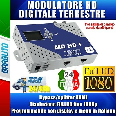 MODULATORE DIGITALE TERRESTRE HD encoder / DVB-T Ingresso HDMI MENU IN ITALIANO