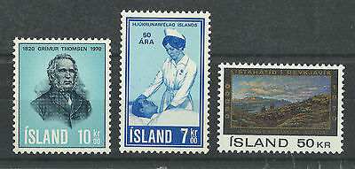Iceland 422-424 (1970) MNH/OGnh XF/S to S {Set of 3}