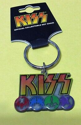 Kiss Rock Group Logo And Icon Collector Keychain