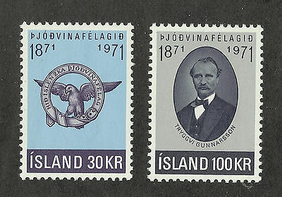 Iceland 433-434 (1971) MNH/OGnh XF/S to S {Set of 2}