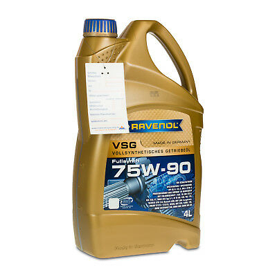 4 Liter Ravenol VSG 75W-90 GL 4/GL 5 vollsyn. Getriebeöl - Made in Germany -