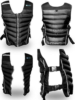 BodyRip Premium Weighted Vest - Black 10kg