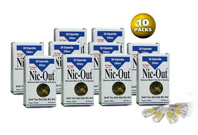 NIC-OUT 10 packs disposable Cigarette Filters Cut The Tar SAME DAY FREE SHIPPING