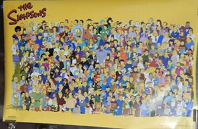 The Simpsons TV Series All The Characters Poster Matt Groening Bart Simpson