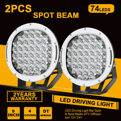 36260W 9inch CREE LED Driving Light Spotlights round work Offroad Lamp Truck HID