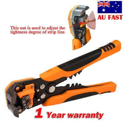 Wire Cutter Electrical Self-adjustive Stripper Plier Cable Crimper Terminal Tool