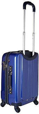 Tommy Hilfiger Lochwood 21 Inch Spinner Carry-On Luggage, Metallic Blue, One