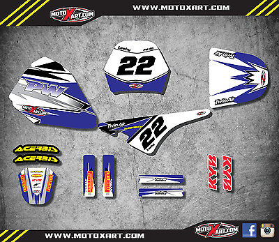 Yamaha pw pee wee 80 SHOCKWAVE STYLE full custom graphics kit decals stickers