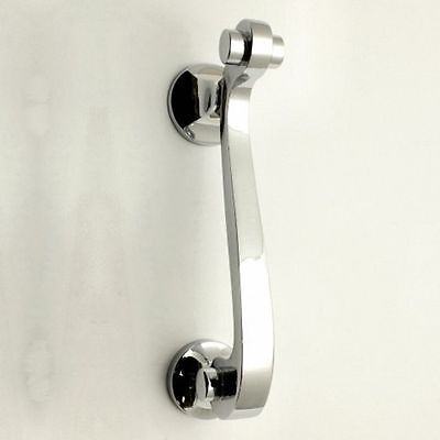 Contemporary Scroll Design Narrow Style Door Knocker - Polished Chrome