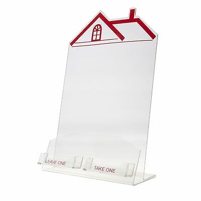 Literature Holder for 8 x 11 House With 2 Business Card Attachements