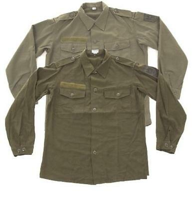 Austrian army surplus olive green fatigue shirts