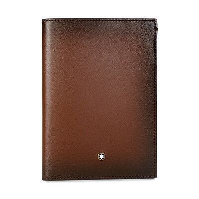 Montblanc Meisterstuck International Passport Holder in Sfumato Brown Leather