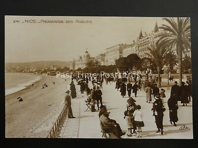France NICE Promenade Des Anglais - Old RP Postcard by C.A.P. 241